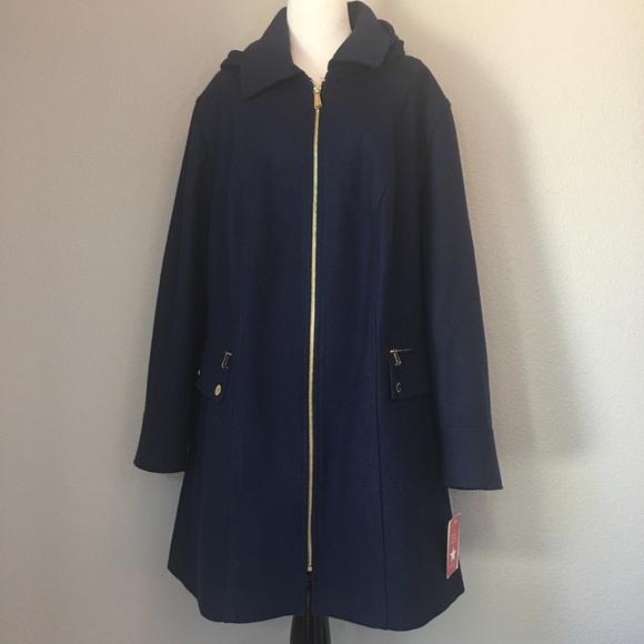 7751072b14e NWT Michael Kors sapphire wool blend coat size 3X